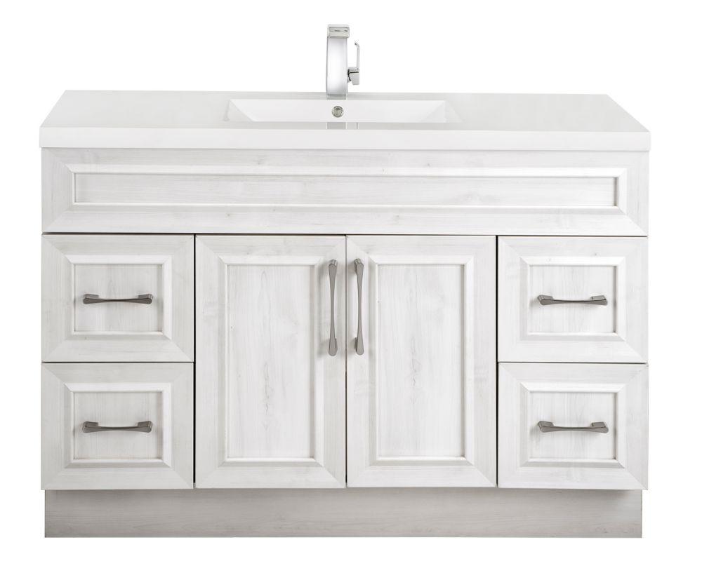 Cutler Kitchen & Bath Fogo Harbour 48-inch W 4-Drawer 2-Door Freestanding Vanity In Off-White