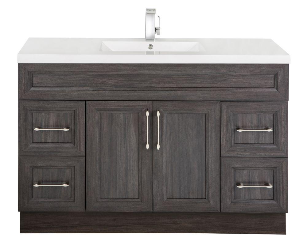 Cutler kitchen bath meuble lavabo karoo ash style bevel shaker 122 cm 48 po 2 porte - Meuble shaker ...