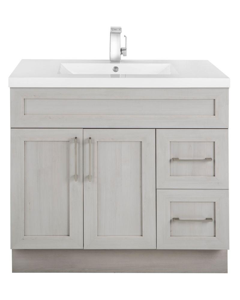 cutler kitchen bath meadows cove 36 inch w 2 drawer 2 door freestanding vanity in off wh. Black Bedroom Furniture Sets. Home Design Ideas