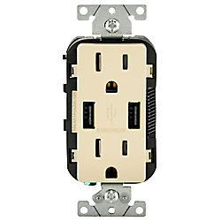 Decora Combination Duplex Receptacle/Outlet and USB Charger