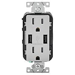 Decora Chargeur USB et prise double combinés