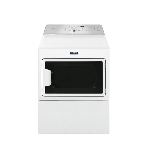 7.4 cu. ft. Front-Load Electric Dryer with IntelliDry Sensor in White