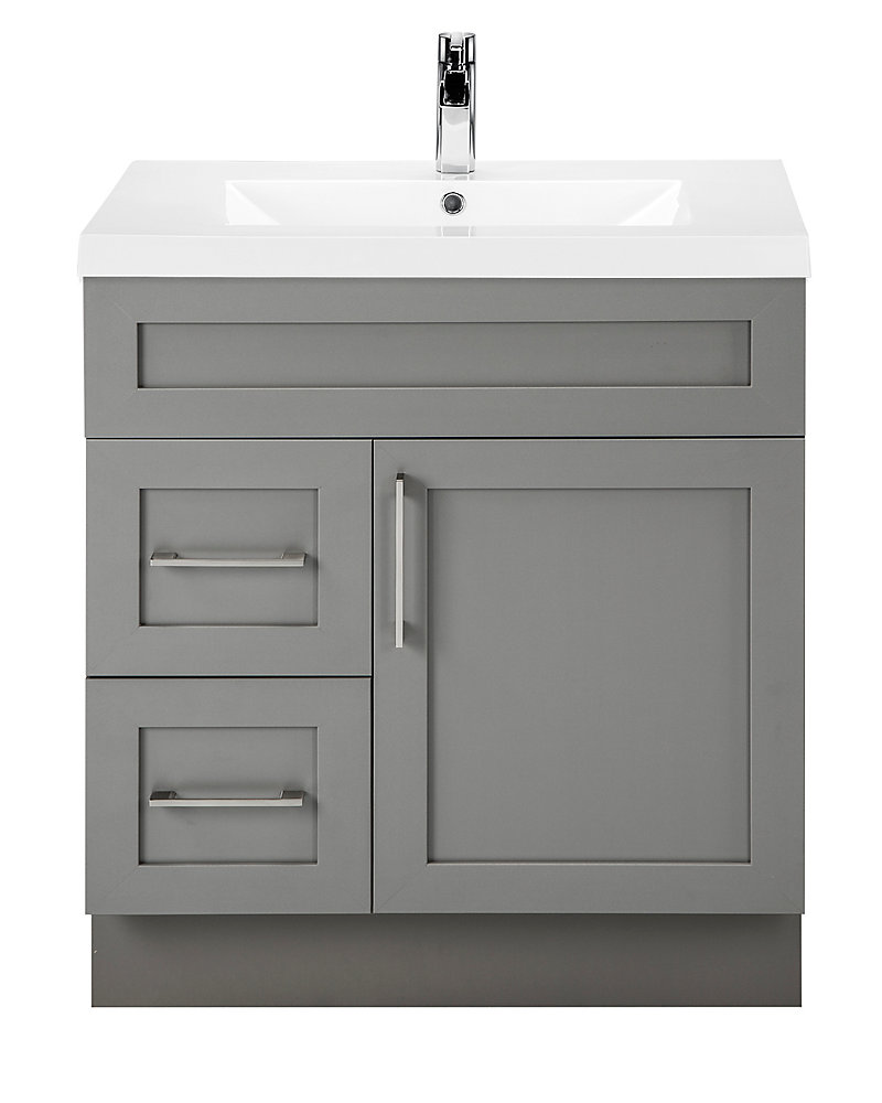 Cutler Kitchen & Bath Fossil 30-inch W 2-Drawer 1-Door ...
