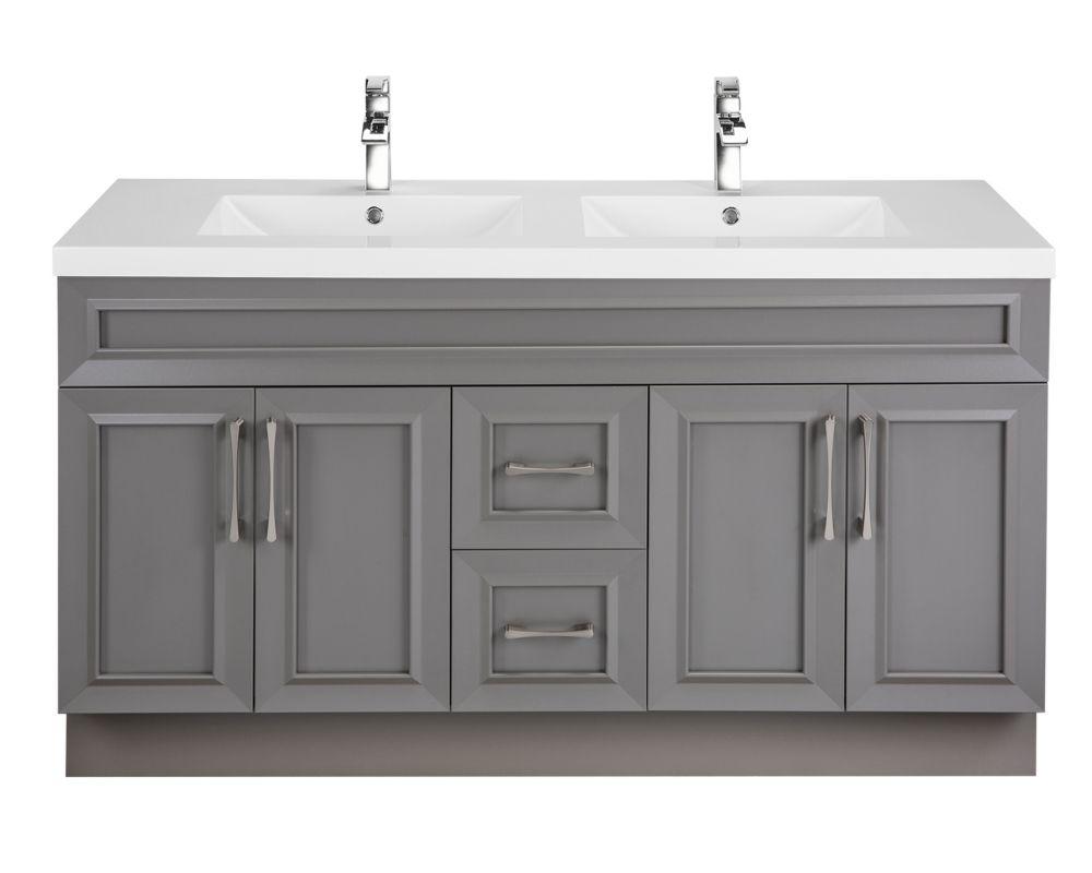 Cutler kitchen bath meuble lavabo fogo harbour style bevel shaker 152 4 cm 60 po 4 - Meuble shaker ...