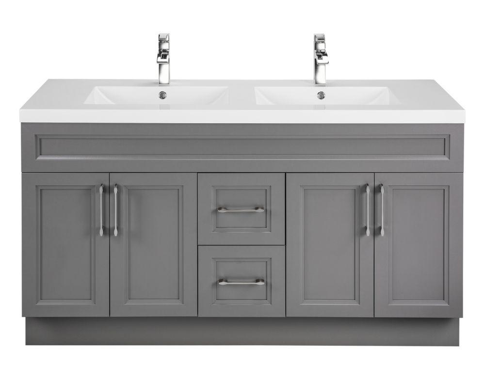 Cutler kitchen bath meuble lavabo fogo harbour style shaker 152 4 cm 60 po 4 portes - Meuble shaker ...