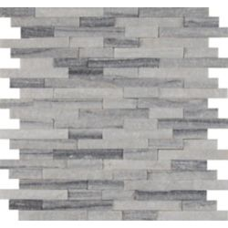 MSI Stone ULC Alaska Grey Split-Face 12-inch x 12-inch Marble Mesh-Mounted Mosaic Tile (10 sq. ft. / case)