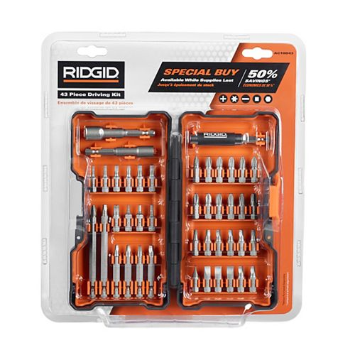 RIDGID Drive Kit (43 pieces) with Hard Case