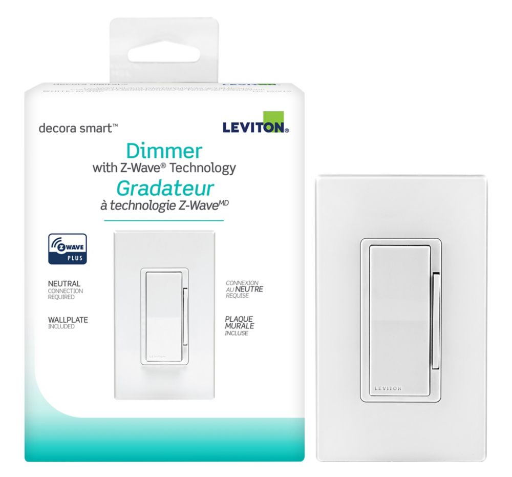 Leviton - Decora 600W Decora Smart with Z-Wave Plus Technology Dimmer