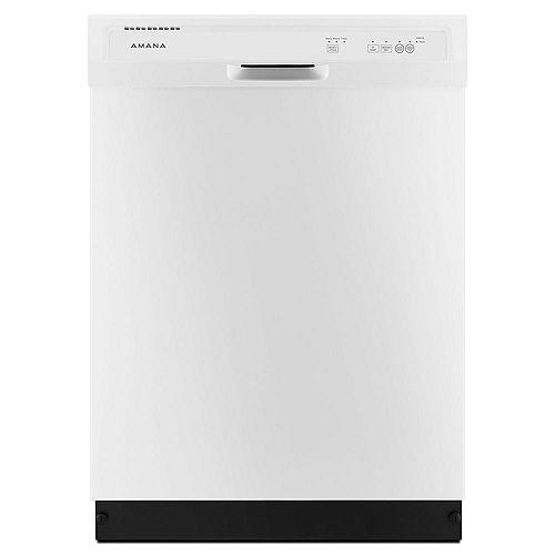 Amana Lave-vaisselle encastré à commande frontale en blanc, 63 dBA - ENERGY STAR