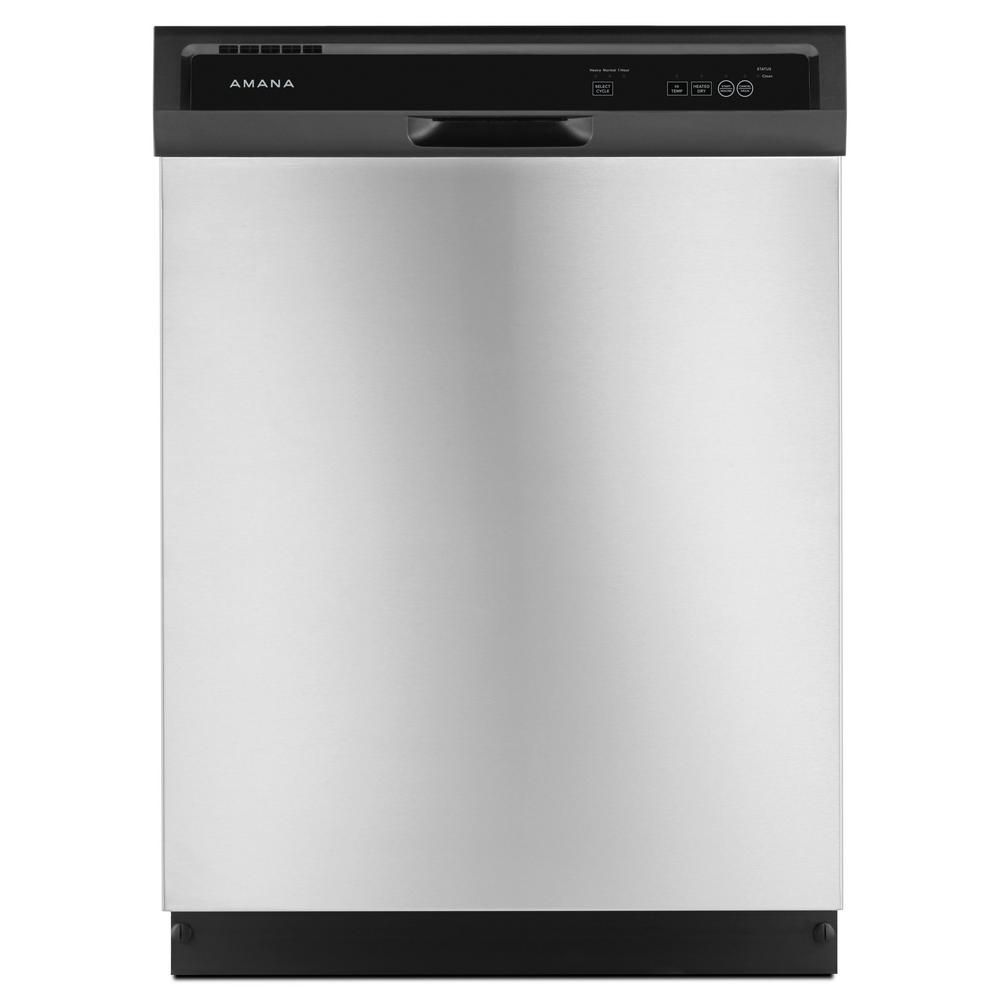 Amana Front Control Built-In Tall Tub Dishwasher in Stainless Steel, 63 dBA - ENERGY STAR®