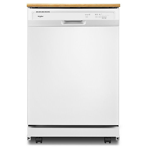 Front Control Portable Heavy-Duty Dishwasher in White, 64 dBA
