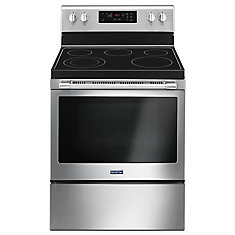 30-inch 5.3 cu. ft. Single Oven Electric Range with Self-Cleaning in Stainless Steel