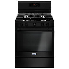 5.0 cu.ft. Gas Range with Self-Cleaning Oven in Black