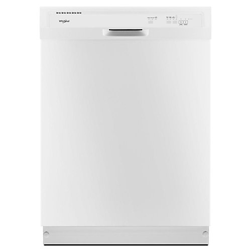 Front Control Dishwasher in White with Plastic Tub, 55 dBA - ENERGY STAR®