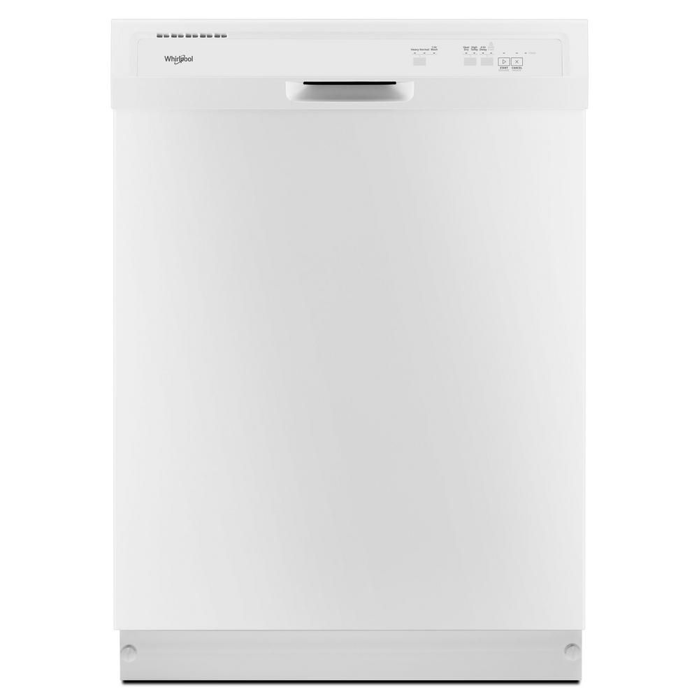 24-inch  Front Control Dishwasher in White with Plastic Tub - ENERGY STAR®