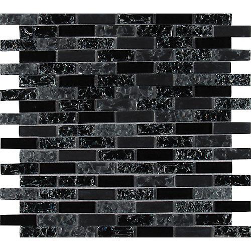 Glissen 12-inch x 12-inch Glass Mesh-Mounted Mosaic Tile