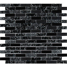 Glissen 12-inch x 12-inch Glass Mesh-Mounted Mosaic Tile (15 sq. ft. / case)