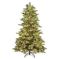 7.5 ft. 3000-Light Warm White LED Rustic Spruce Christmas Tree