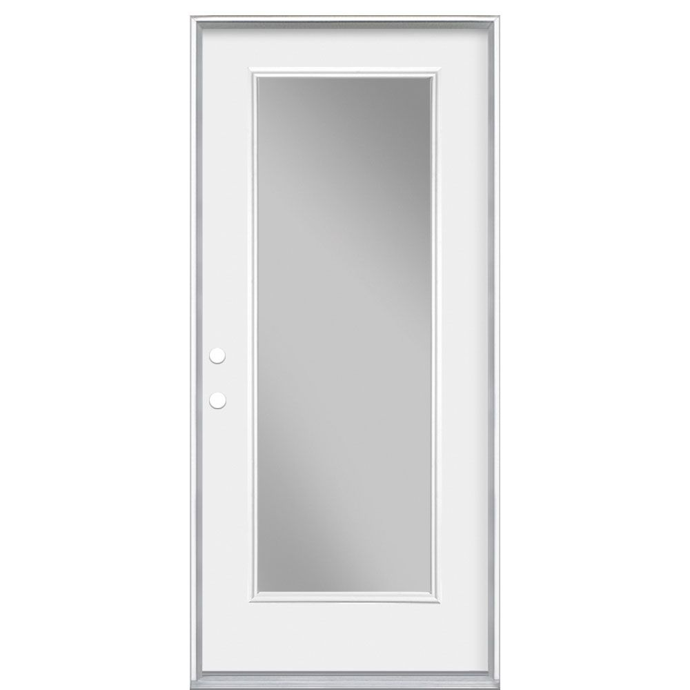 Masonite 36 inch x4-9/16 Clear 1 Lite Low-E RH - ENERGY STAR®