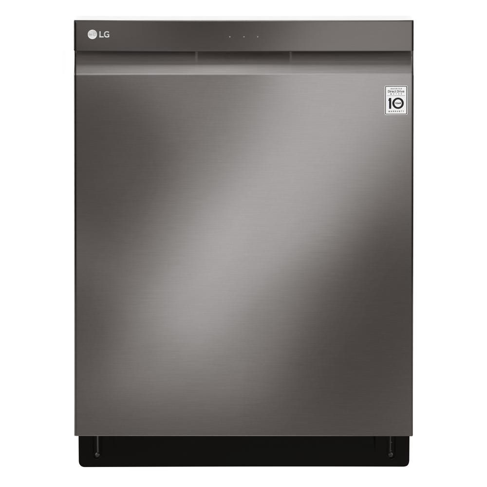 24-inch Top-Control Dishwasher with Pocket Handle and EasyRack in Black Stainless Steel
