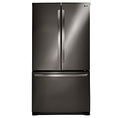 33-inch 24 cu. ft. French Door Refrigerator with Smart Cooling System in Black Stainless Steel - ENERGY STAR®