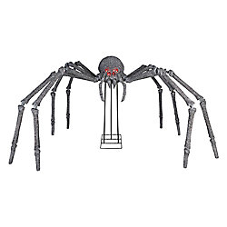 Home Accents Halloween 6 ft. Gargantuan Spider with Light-Up Eyes Outdoor Halloween Decoration