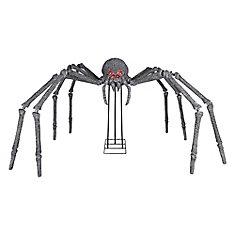 Araignée gargantuesque d'Halloween aux yeux lumineux d'extérieur, 6 po