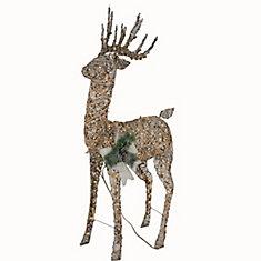 5 ft. LED Animated Grapevine Deer 160 Warm White Lights