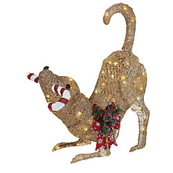 Home Accents Holiday 2 ft. 6-inch LED Animated Gold Dog with 80 Warm White Lights