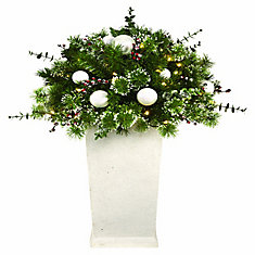3 ft. LED Pre-Lit Decorated Potted Tree