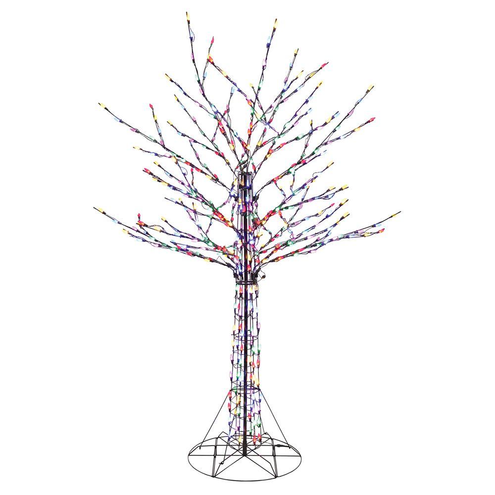 Santa S Best 8 Ft Led Pre Lit Bare Branch Tree With Multi