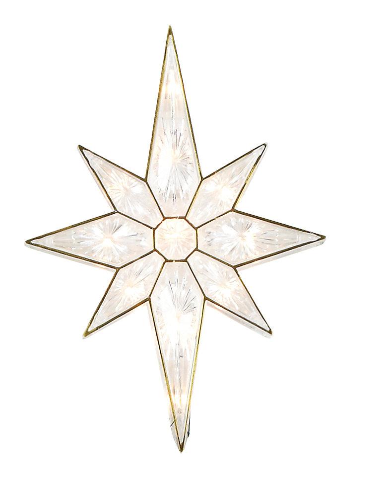Étoile illuminée pour cime d'arbre de Noël avec 11 ampoules claires, 11 po