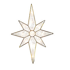 11-inch Lighted Star  Tree Topper                                                 11 Clear Lights