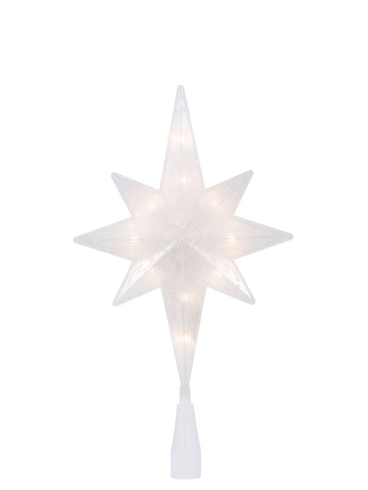 Home Accents Holiday 11.5-inch Pre-Lit Glitter Star Christmas Tree Topper