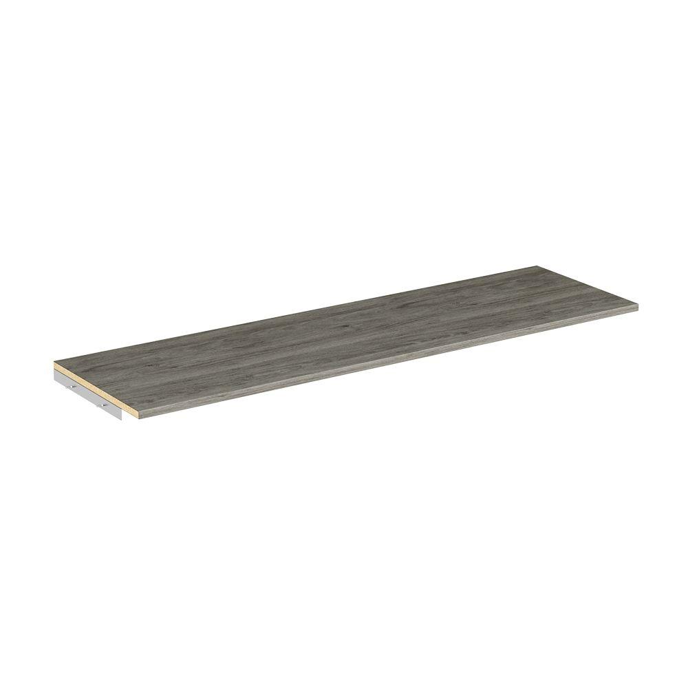 ClosetMaid Style+ 48-inch Top Shelf for Closet Kit in Coastal Teak