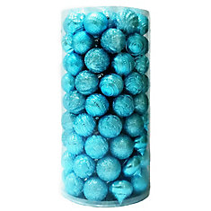 60mm Ornaments in Light Blue (101-Count)