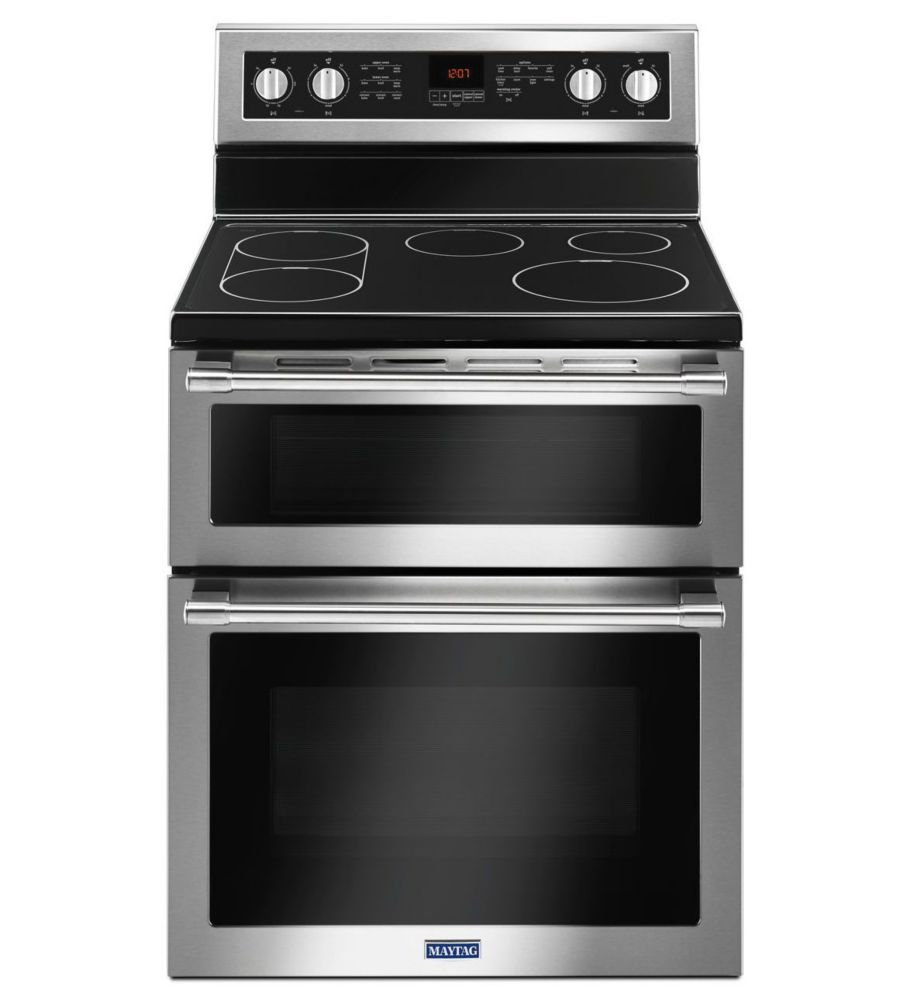 30-inch 6.7 cu. ft. Double Oven Electric Range with Self-Cleaning Convection Oven in Stainless Steel