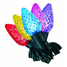 25-Light Multi-Colour LED C9 Christmas Lights