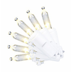 Home Accents Holiday 50-Light Warm White LED M5 Christmas Lights in White