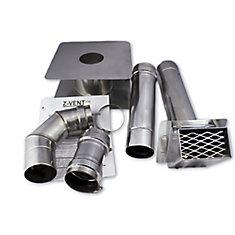 Kit de ventilation horizontal Z-Flex 4 pouces