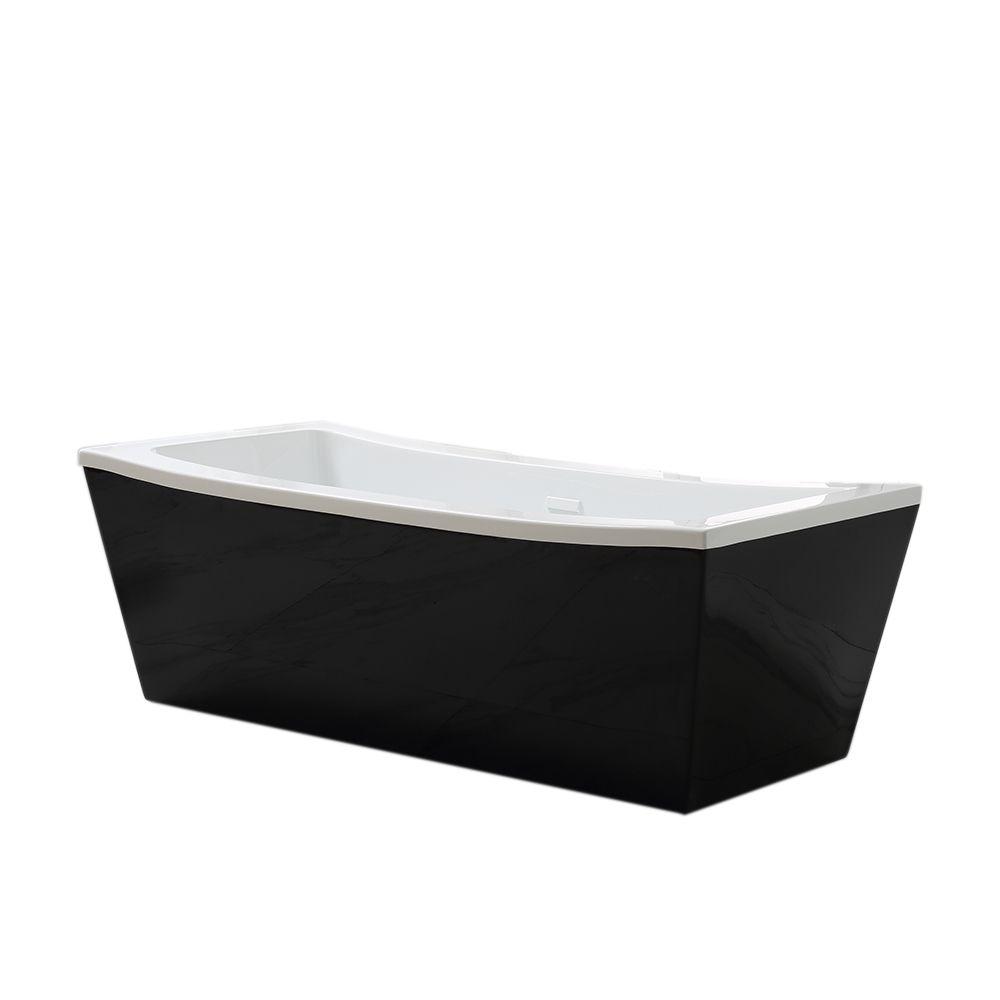 Ove Decors Eleanor 63-inch Freestanding Tub in Black