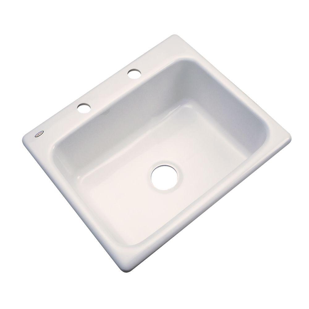 Inverness 25 Inch Single Bowl Almond Kitchen Sink