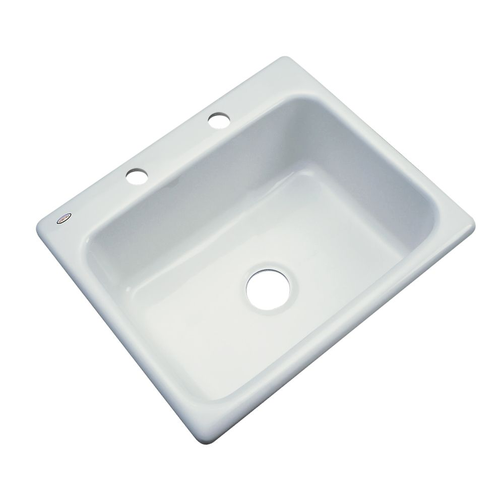 Inverness 25 Inch Single Bowl Ice Gray Kitchen Sink