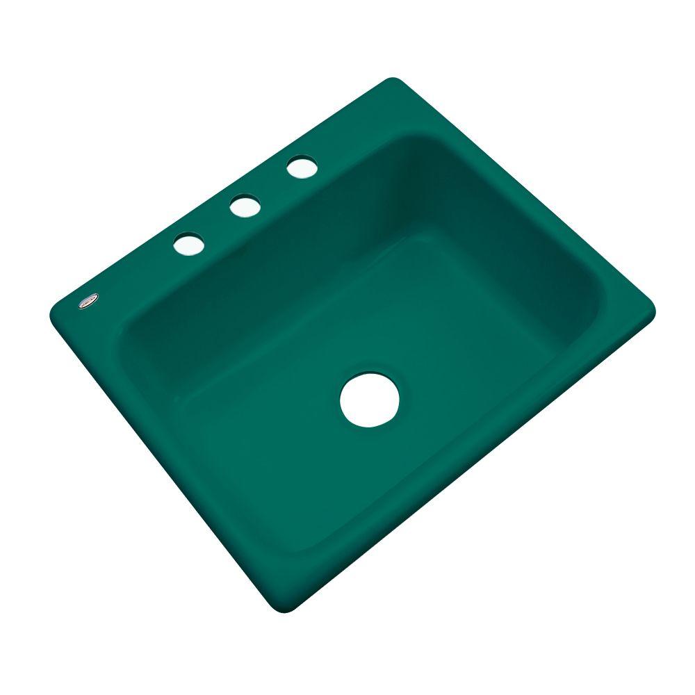 Inverness 25 Inch Single Bowl Verde Kitchen Sink