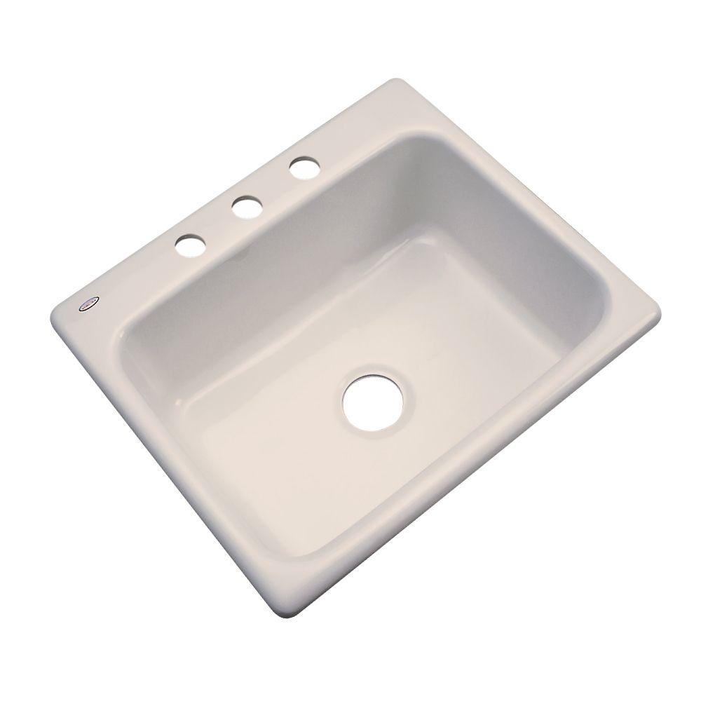 Inverness 25 Inch Single Bowl Desert Bloom Kitchen Sink