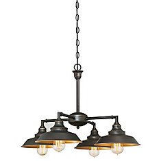 chandelier light fixtures. Iron Hill 4-Light Chandelier Or Flush Mount Light Fixture In Bronze Fixtures K