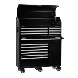 HUSKY 52-inch 13-Drawer Tool Chest and Cabinet Combo in Black