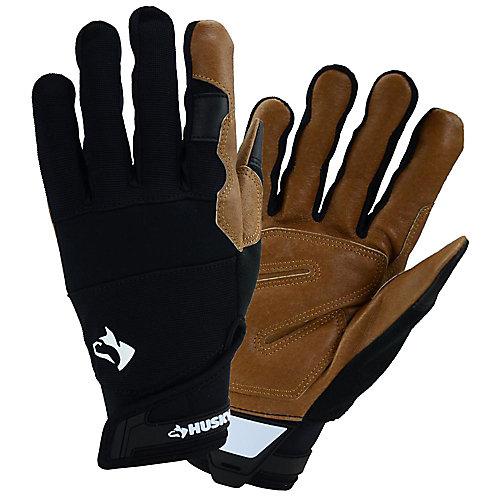 Leather Hybrid Work Gloves - M