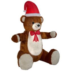 Home Accents Holiday 7.5 ft. Airblown Inflatable Hugging Teddy Bear