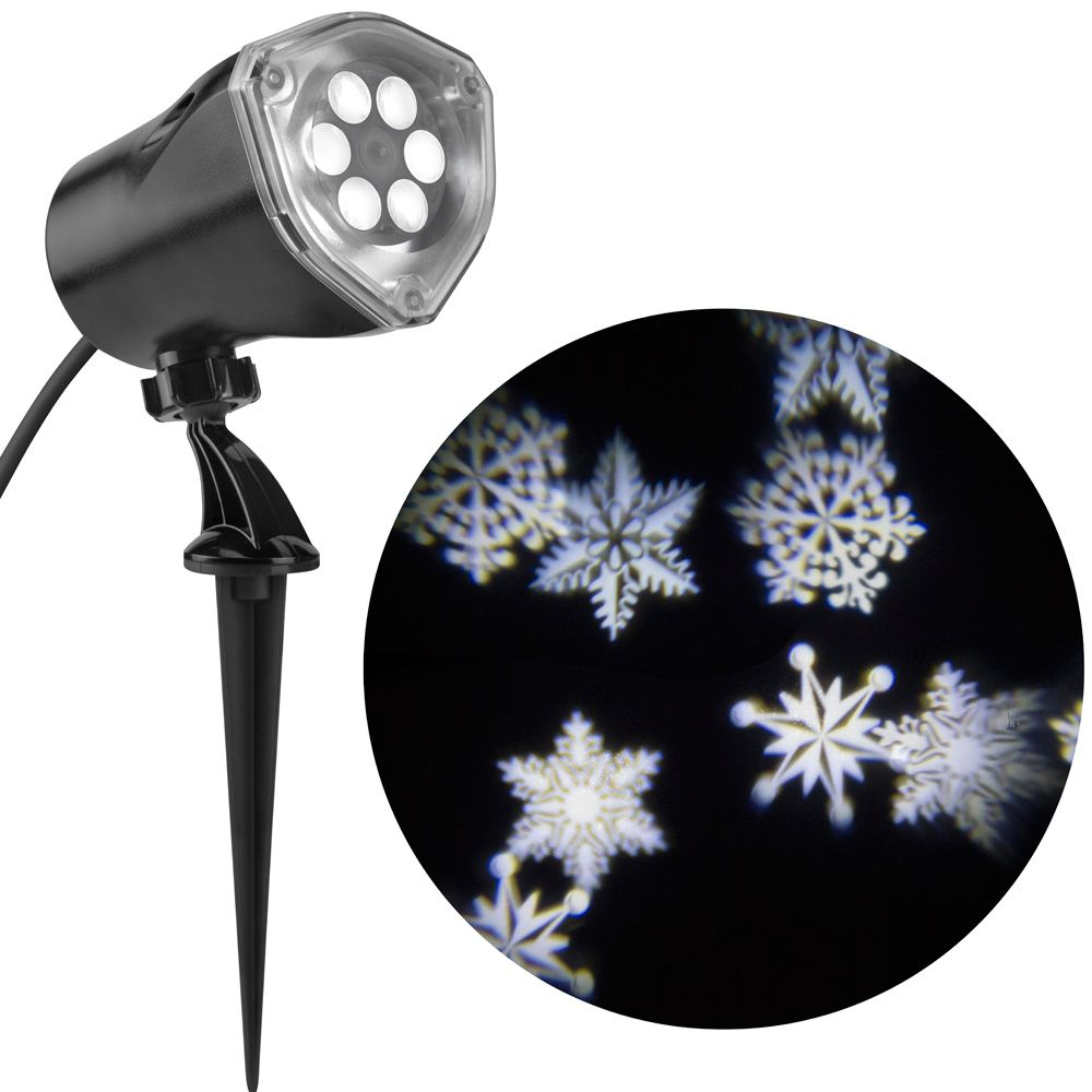LightShow Ornate Snow Flurry LED Holiday Image Projector